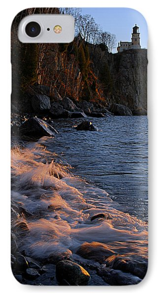Split Rock Lighthouse At Dawn IPhone Case by Larry Ricker