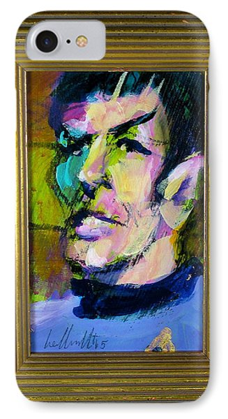 IPhone Case featuring the painting Spock by Les Leffingwell