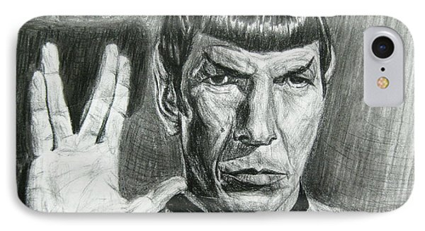 Spock IPhone Case by Michael Morgan