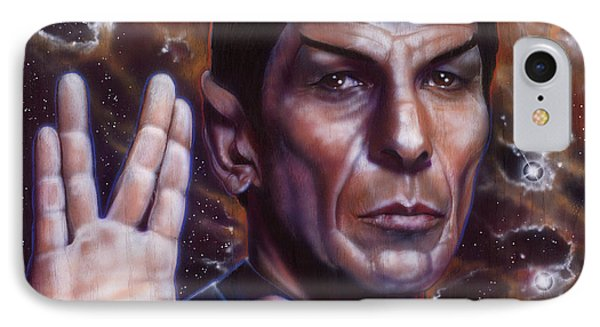 Spock IPhone Case by Tim  Scoggins