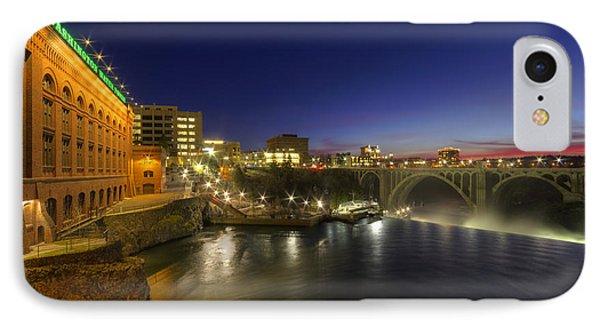 Spokane Falls At Night IPhone Case by Mark Kiver