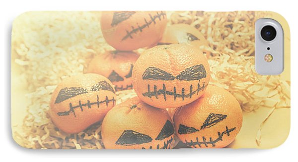 Spooky Halloween Oranges IPhone Case by Jorgo Photography - Wall Art Gallery