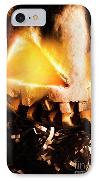 Spooky Jack-o-lantern In Darkness IPhone Case by Jorgo Photography - Wall Art Gallery