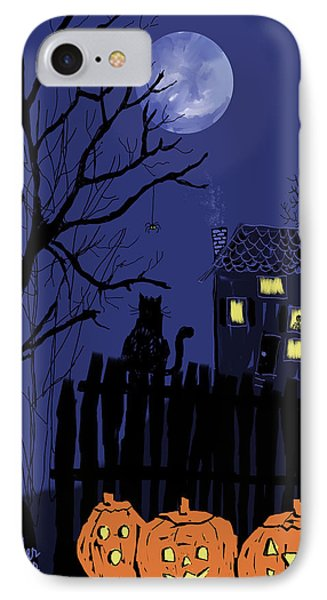 Spooky Night IPhone Case by Arline Wagner