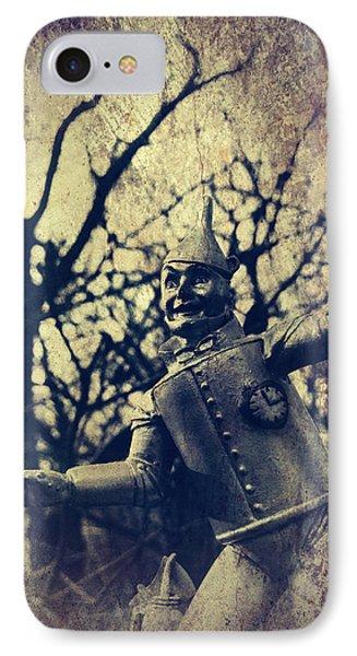 Spooky Tin Man Wizard Of Oz IPhone Case by Aurelio Zucco
