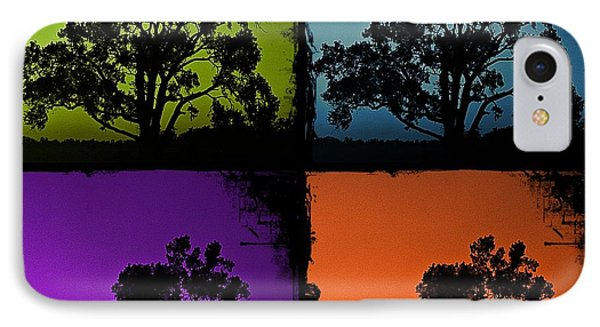 IPhone Case featuring the photograph Spooky Tree- Collage 1 by KayeCee Spain