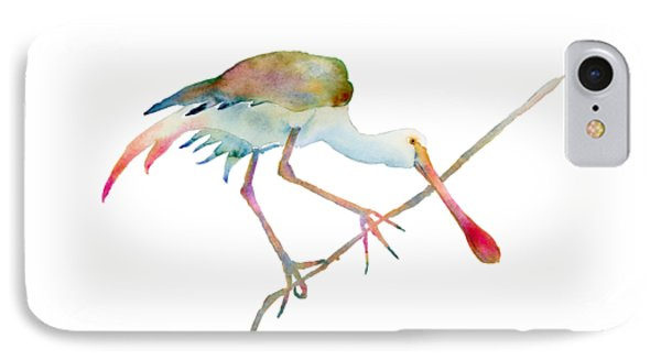 Spoonbill  IPhone 7 Case by Amy Kirkpatrick