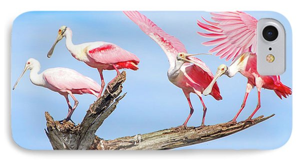 Spoonbill Party IPhone 7 Case by Mark Andrew Thomas