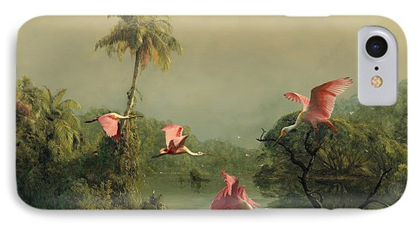 Spoonbills In The Mist IPhone 7 Case by Spadecaller