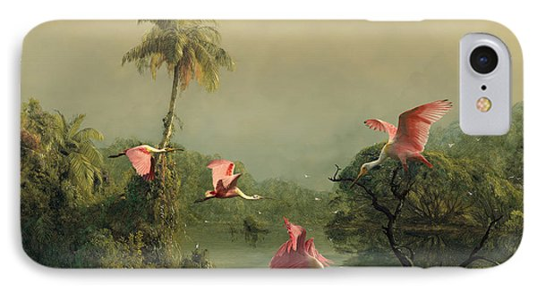 Spoonbills In The Mist IPhone Case
