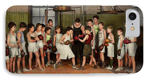IPhone Case featuring the photograph Sport - Boxing - Fists Of Fury 1924 by Mike Savad