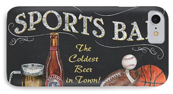 Football iPhone 7 Case - Sports Bar by Debbie DeWitt