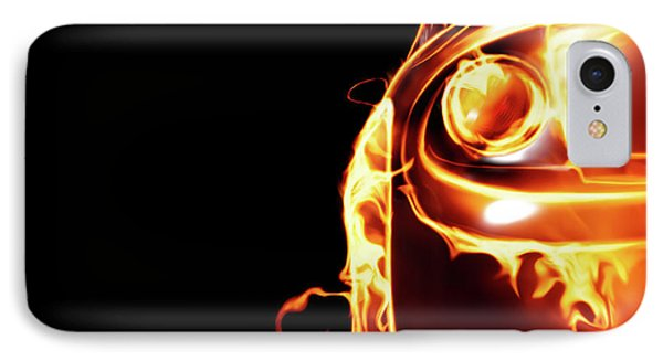 Sports Car In Flames Phone Case by Oleksiy Maksymenko