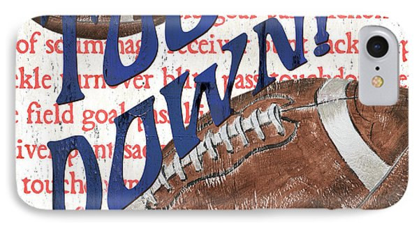 Sports Fan Football IPhone Case by Debbie DeWitt