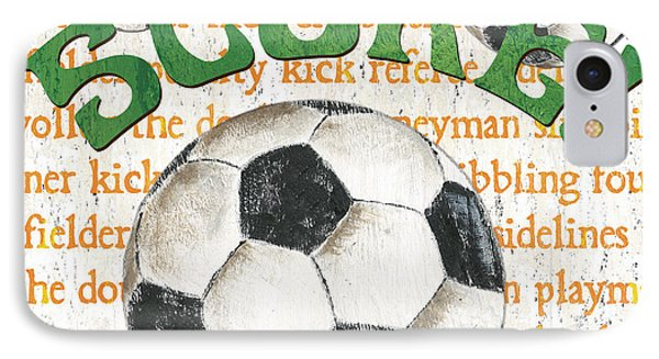 Sports Fan Soccer IPhone 7 Case by Debbie DeWitt