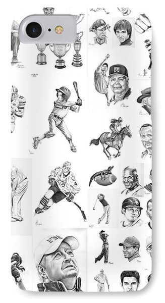 Sports Figures Collage IPhone Case by Murphy Elliott