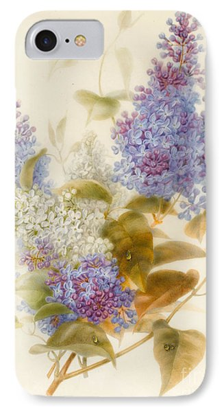 Spray Of Lilac IPhone Case by Pauline Gerardin