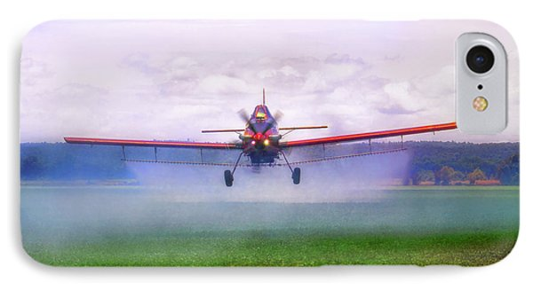 IPhone Case featuring the photograph Spraying The Fields - Crop Duster - Aviation by Jason Politte