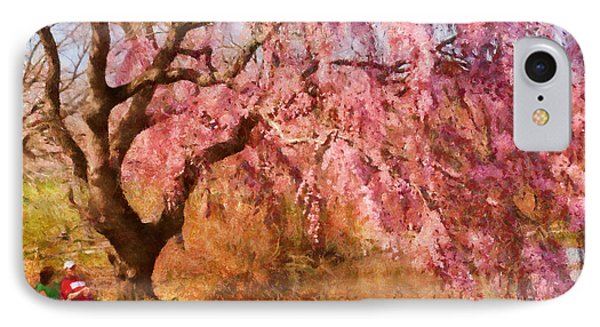 Spring - Sakura - A Beautiful Spring Day  Phone Case by Mike Savad