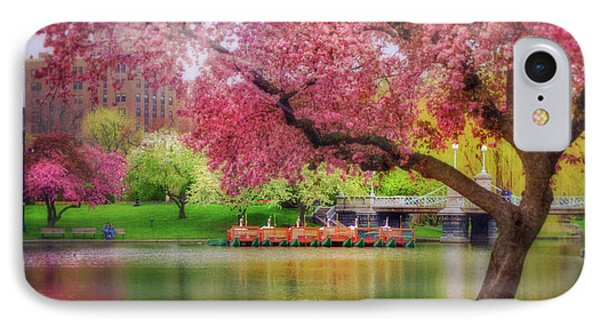 IPhone Case featuring the photograph Spring Afternoon In The Boston Public Garden - Boston Swan Boats by Joann Vitali