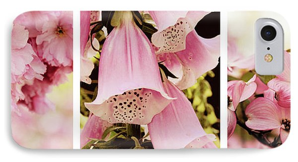 Spring Assemblage Triptych IPhone Case