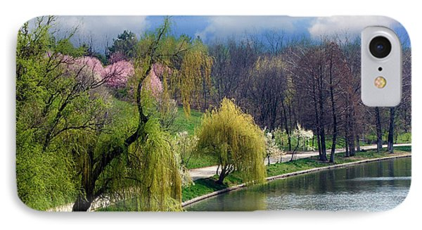 Spring At The Lake IPhone Case by Judi Saunders