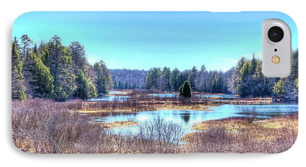 IPhone 7 Case featuring the photograph Spring Scene At The Tobie Trail Bridge by David Patterson