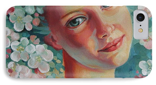 IPhone Case featuring the painting Spring B by Elena Oleniuc