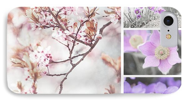 IPhone Case featuring the photograph Spring Bloom Collage 1. Shabby Chic Collection by Jenny Rainbow