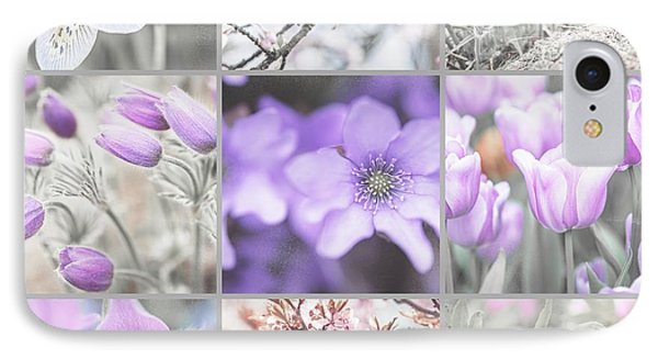 IPhone Case featuring the photograph Spring Bloom Collage. Shabby Chic Collection by Jenny Rainbow
