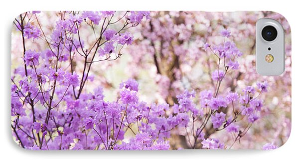 IPhone Case featuring the photograph Spring Bloom Of Rhododendron  by Jenny Rainbow