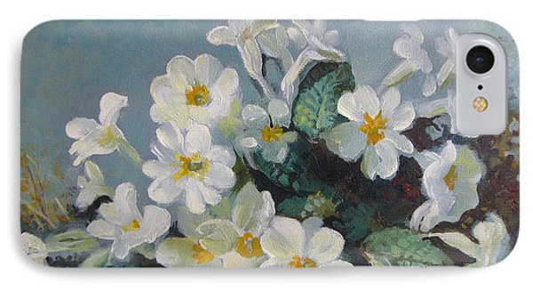IPhone Case featuring the painting Spring Blooms by Elena Oleniuc