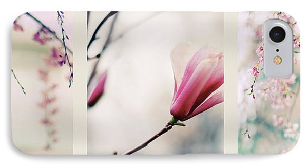 IPhone 7 Case featuring the photograph Spring Blossom Triptych by Jessica Jenney