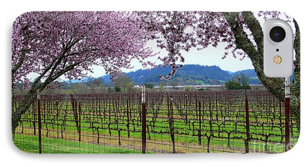 Spring Blossoms Near Calistoga Phone Case by Charlene Mitchell