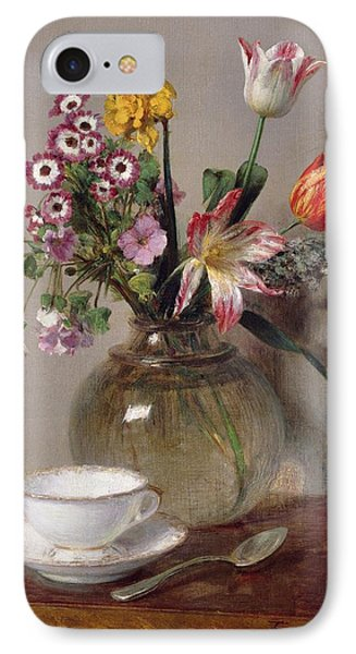 Spring Bouquet IPhone Case by Ignace Henri Jean Fantin-Latour