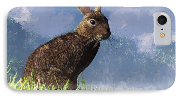 Spring Bunny IPhone Case by Daniel Eskridge