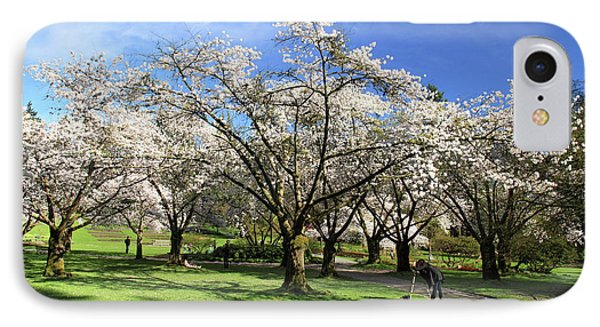 Spring Cherry Blossoms In Stanley Park Vancouver  Phone Case by Pierre Leclerc Photography