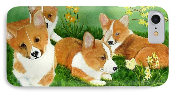 Spring Corgis IPhone Case