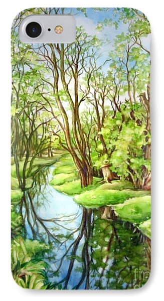 IPhone Case featuring the painting Spring Creek by Inese Poga