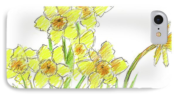 IPhone Case featuring the painting Spring Daffodils by Cathie Richardson