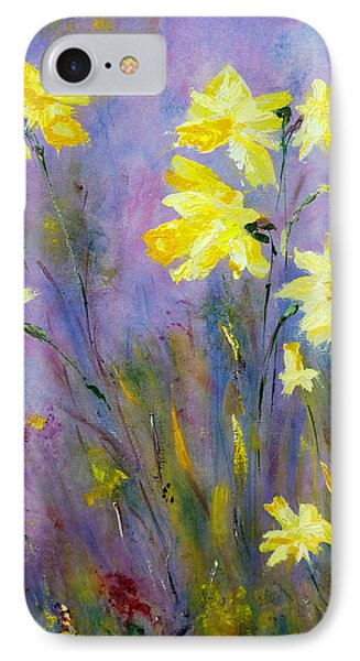 Spring Daffodils IPhone Case by Claire Bull