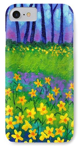Spring Daffodils IPhone Case by John  Nolan