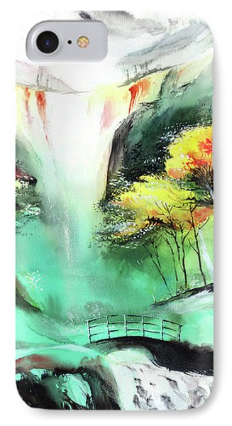 IPhone Case featuring the painting Spring Fall by Anil Nene