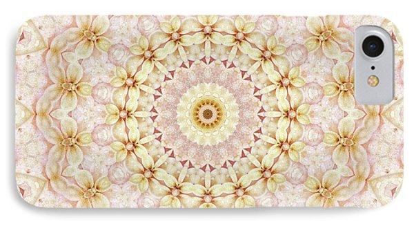 Spring Fantasy Floral Mandala Phone Case by Janusian Gallery