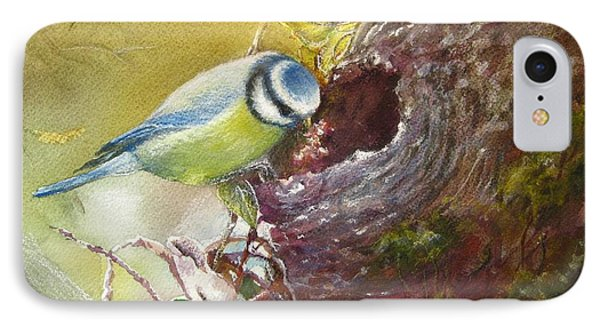 IPhone Case featuring the painting Spring Feeding by Patricia Schneider Mitchell
