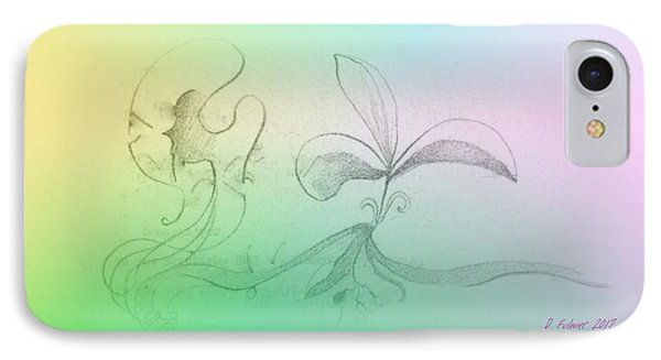 IPhone Case featuring the mixed media Spring Feelings 1 by Denise Fulmer