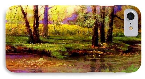 Spring Fields Along Sunlite Creek Phone Case by Joseph Barani