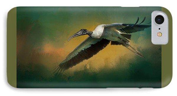 Stork iPhone 7 Case - Spring Flight by Marvin Spates