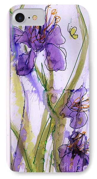 IPhone Case featuring the painting Spring Fling by P J Lewis