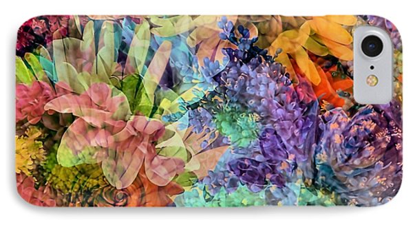 Spring Floral Composite  IPhone Case by Janice Drew